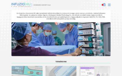 Infúzió.hu weboldal fejlesztés