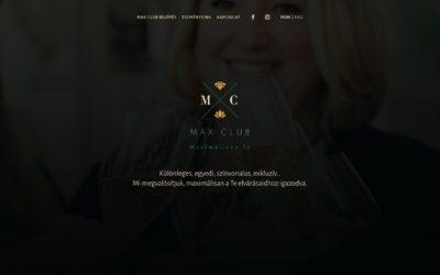 Max Club weboldal tervezés