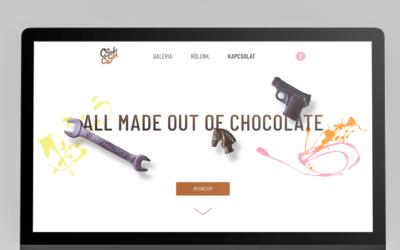 Csokicsel – weboldal kézműves csokiból
